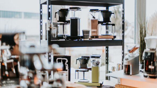 Ausstellung. Kaffeemaschinen von Moccamaster