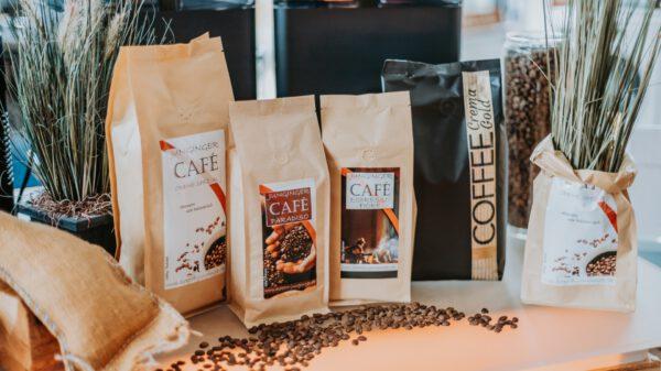 Ausstellung. Unsere Hausmarke. Junginger CAFÉ und COFFEE Creme Gold