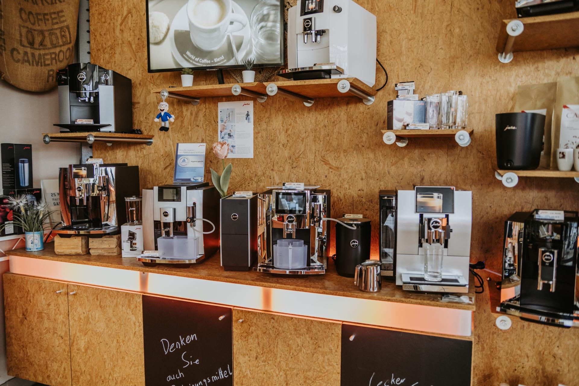 Ausstellung. Kaffeevollautomaten von JURA